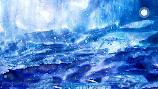 Painting - Celestial Or Storming Sea -  Alcohol Inks  by Danielle  Parent