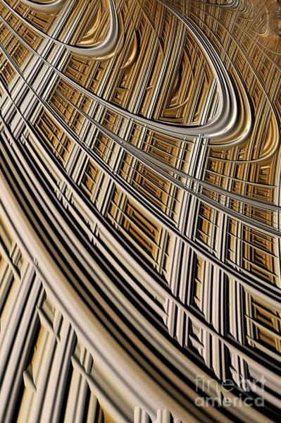 Web Digital Art - Celestial Harp by John Edwards