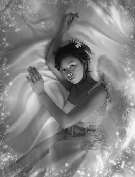 Angelic Digital Art - Celestial by Linda Lees