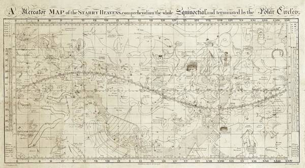 Pisces Photograph - Celestial Map Of The Heavens by Library Of Congress, Geography And Map Division