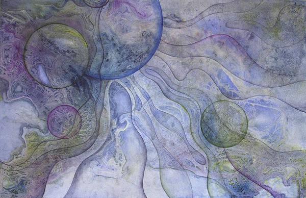 Wall Art - Painting - Celestial Matrix by Ellen Starr