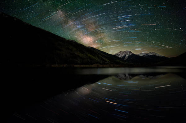 Alpine Photograph - Celestial Rotation In The Colorado San Juans by Mike Berenson