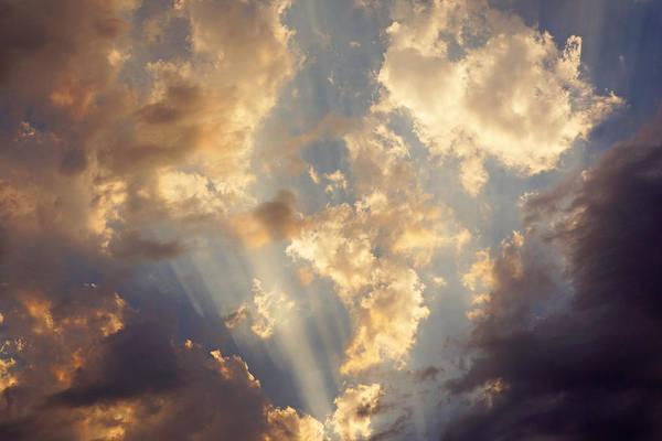 Wall Art - Photograph - Celestial Twilight Sunset Art Prints Sunrays by Baslee Troutman