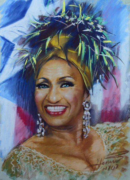 Wall Art - Drawing - Celia Cruz by Viola El