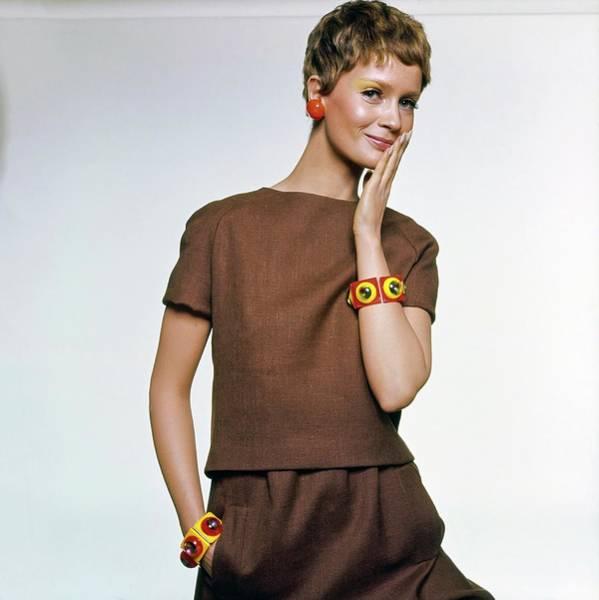 Wall Art - Photograph - Celia Hammond Wearing Charles Cooper by Bert Stern