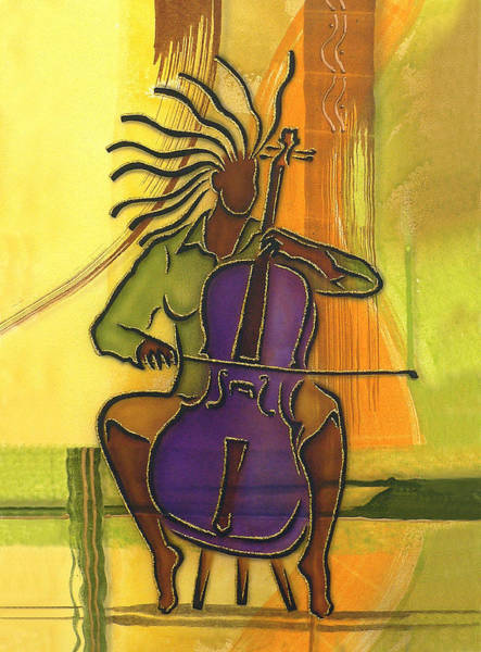 Cellist Painting - Cellist by Fred Odle