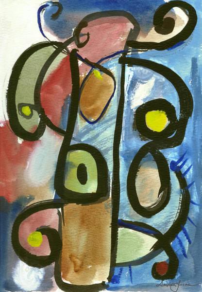 Cello In Blue Art Print