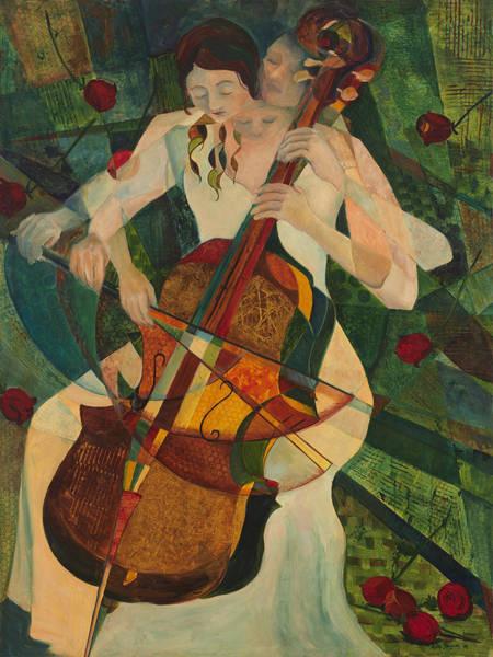 Cellist Painting - Cello Player by Anika Ferguson