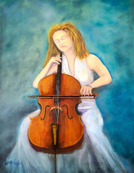 Cellist Painting - Cello Player by Loretta Luglio