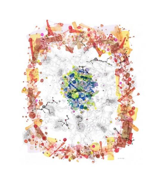 Drawing - Cellular Generation by Regina Valluzzi