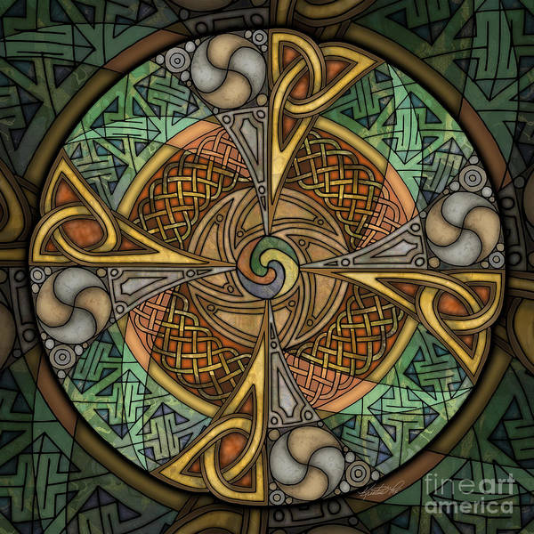 Mixed Media - Celtic Aperture Mandala by Kristen Fox