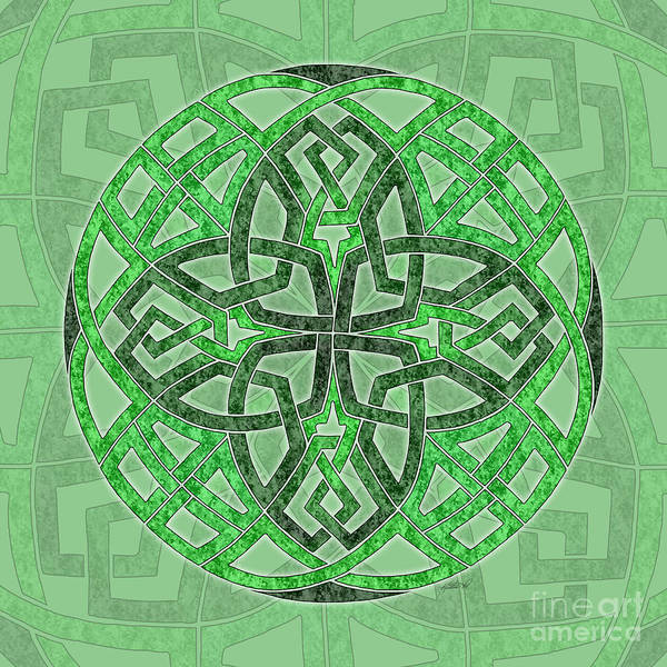 Mixed Media - Celtic Clover Mandala by Kristen Fox