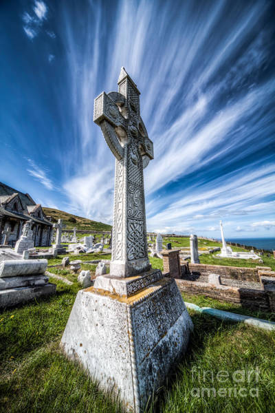 Grave Yard Photograph - Celtic Cross by Adrian Evans