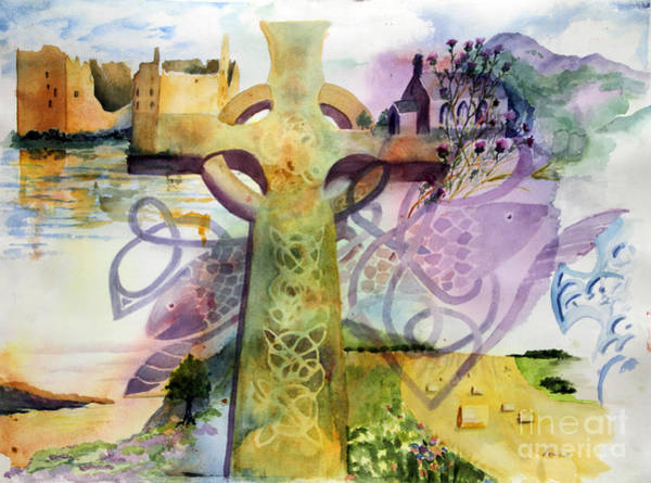 Church Of The Cross Painting - Inspired By Ancient Designs by Maria Hunt