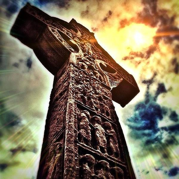 Ancient Photograph - Celtic Cross by Phil Tomlinson