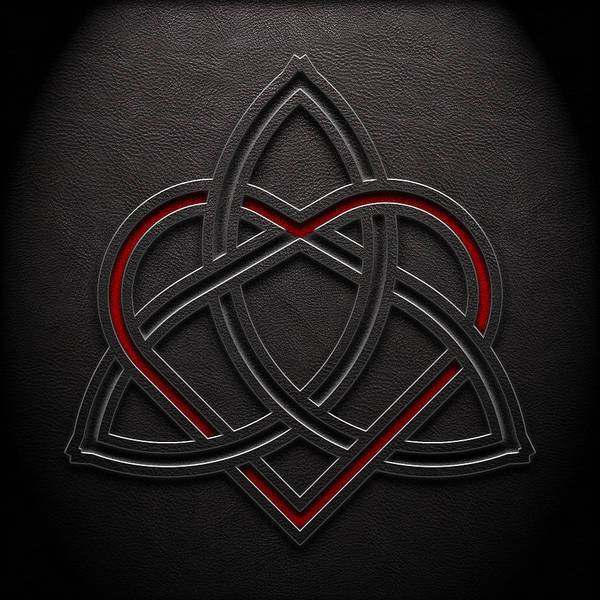 Digital Art - Celtic Knotwork Valentine Heart Leather Texture 1 by Brian Carson
