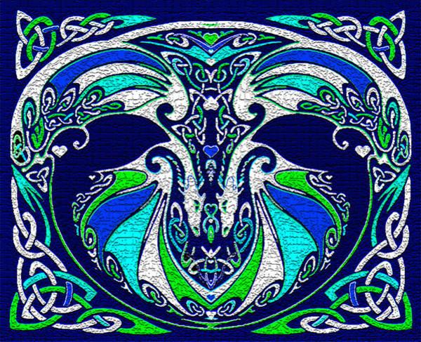Celtic Mythology Wall Art - Digital Art - Celtic Love Dragons by Michele Avanti