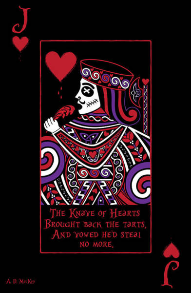 Deck Of Cards Digital Art - Celtic Queen Of Hearts Part Iv The Broken Knave by Celtic Artist Angela Dawn MacKay