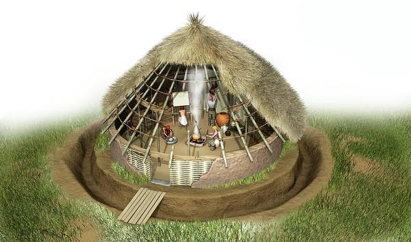 Roundhouse Photograph - Celtic Roundhouse by Jose Antonio Penas/science Photo Library