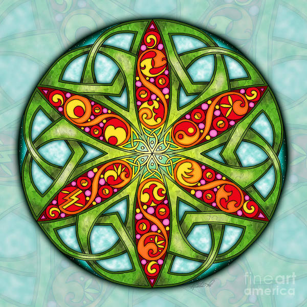 Mixed Media - Celtic Summer Mandala by Kristen Fox