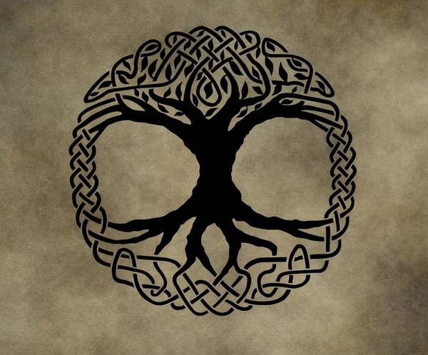 Celtic Mythology Wall Art - Mixed Media - Celtic Tree Of Life by Dan Sproul