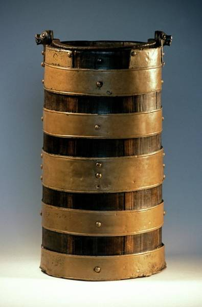 Bucket Photograph - Celtic Wood Bucket by Patrick Landmann/science Photo Library