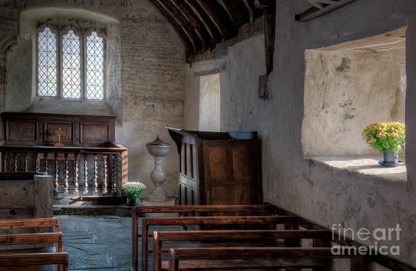 Inscription Photograph - Celynnin Church by Adrian Evans