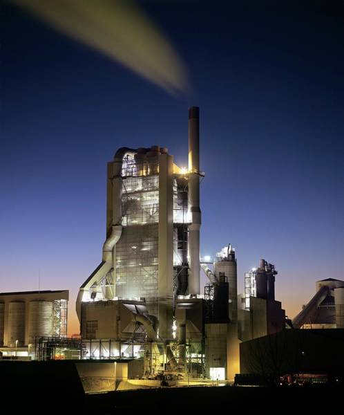 Manufacturing Plant Wall Art - Photograph - Cement Factory by Martin Bond/science Photo Library