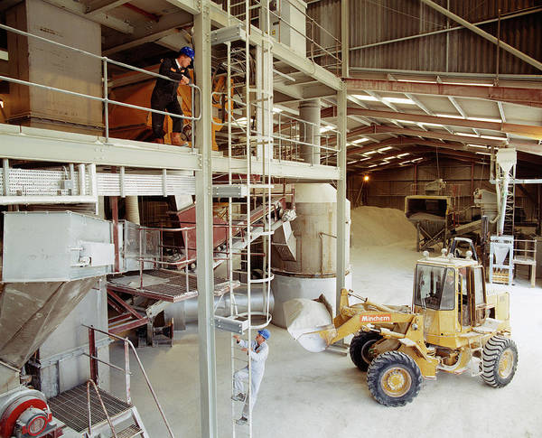 Warehouse Photograph - Cement Production by Steve Allen/science Photo Library