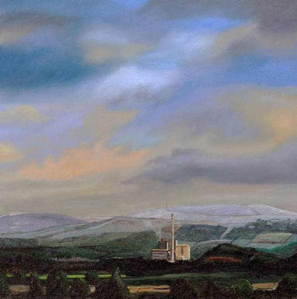 Peak District National Park Photograph - Cement Works, Hope Valley, Derbyshire, 2009 Oil On Canvas by Trevor Neal