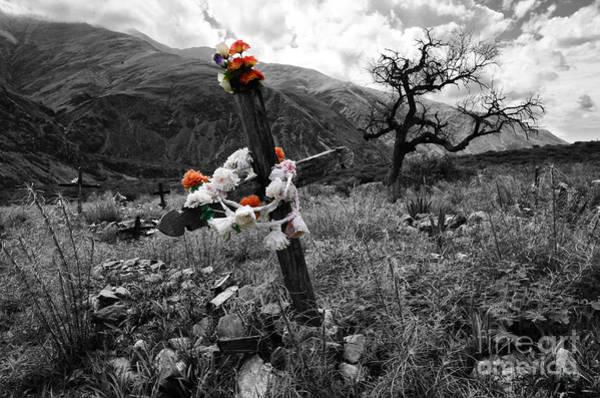 Grave Yard Photograph - Cementario Volcon Argentina by Bob Christopher