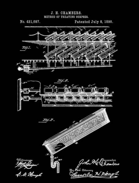 Mixed Media - Cemetery Coffin Patent by Dan Sproul