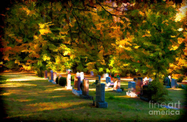 Photograph - Cemetery In Fall by Les Palenik