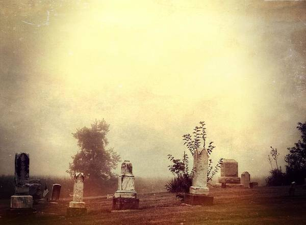 The Walking Dead Wall Art - Photograph - Cemetery In The Fog by Dan Sproul