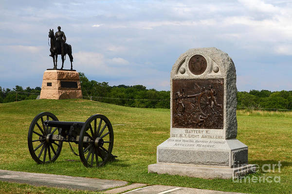 Photograph - Cemetery Ridge Monuments Gettysburg Battlefield by James Brunker