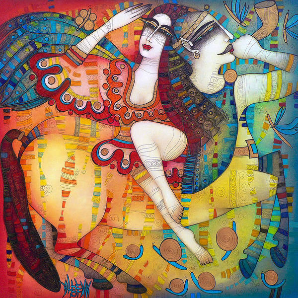 Wall Art - Painting - Centaur In Love by Albena Vatcheva
