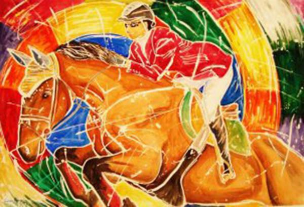 Horsemanship Painting - Centauride by German Rafael Correa-Moraes Vaz