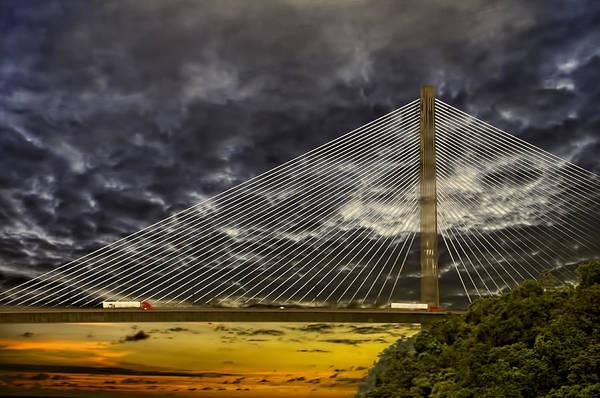 Centennial Bridge Photograph - Centennial Bridge by Maria Coulson