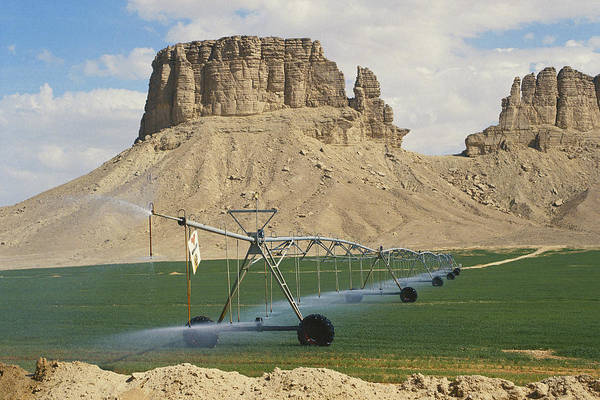 Wall Art - Photograph - Center-pivot Irrigation, Saudi Arabia by Ray Ellis