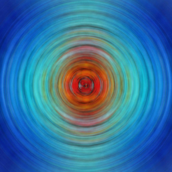 Circular Painting - Center Point - Abstract Art By Sharon Cummings by Sharon Cummings