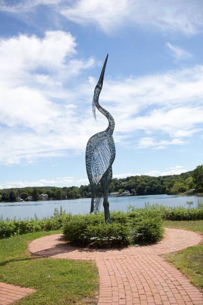 Photograph - Centerport Heron Statue by Susan Jensen