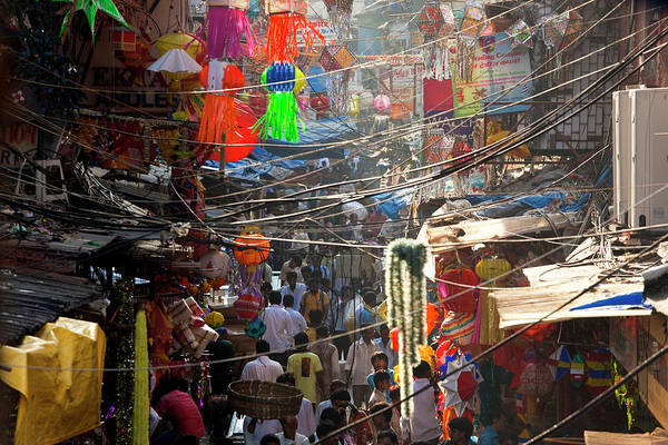 Shopping Districts Wall Art - Photograph - Central Bazaar District, Mumbai, India by Peter Adams