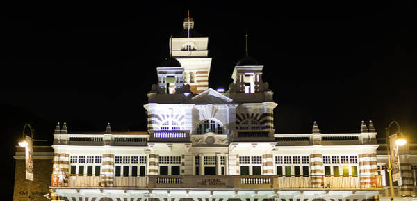 Central Fire Station Photograph - Central Fire Station In Singapore At Night by Ashish Agarwal