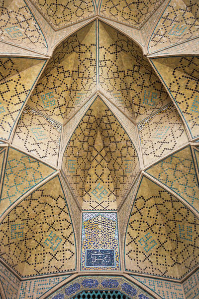 Central Asia Photograph - Central Iran, Esfahan, Jameh Mosque by Walter Bibikow
