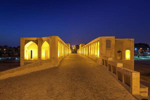 Central Asia Photograph - Central Iran, Esfahan, Si-o-seh Bridge by Walter Bibikow