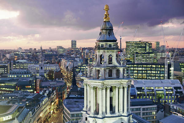 Exterior Digital Art - Central London From St Pauls Cathedral by Allan Baxter