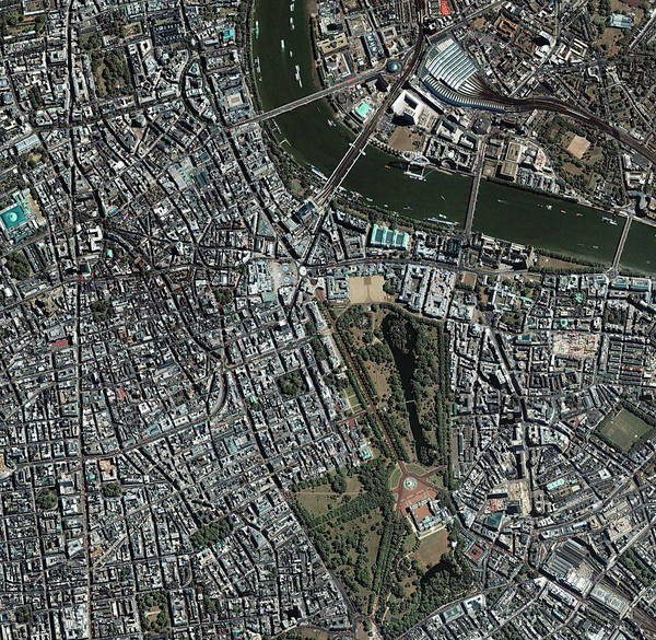 City Centre Photograph - Central London by Geoeye/science Photo Library
