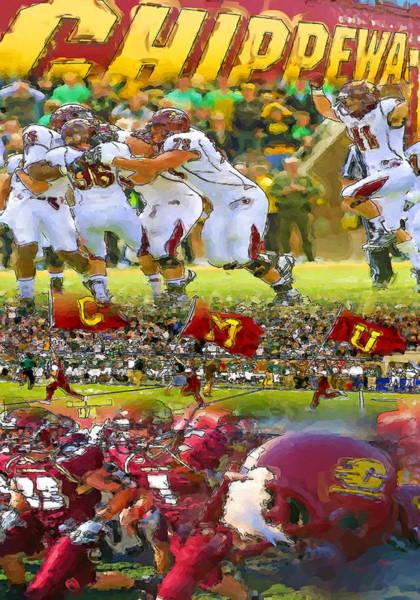 Central Michigan Football Collage Art Print