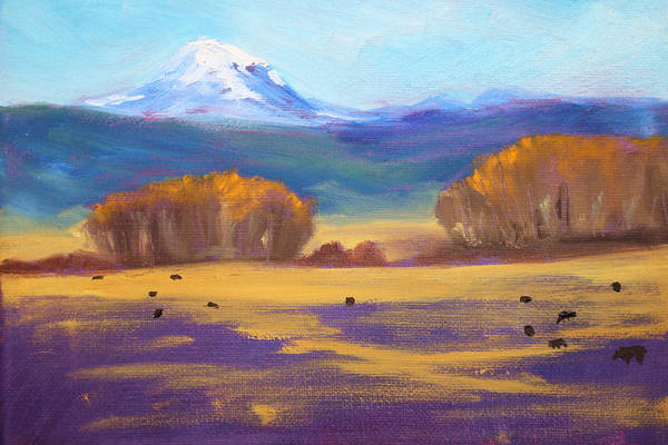 Foothills Wall Art - Painting - Central Oregon by Nancy Merkle