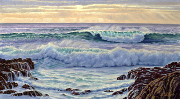 Surf Painting - Central Pacific Surf by Paul Krapf